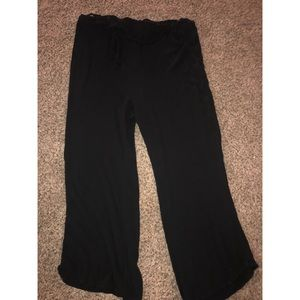 Black Plus size forever 21 Paperbag pants